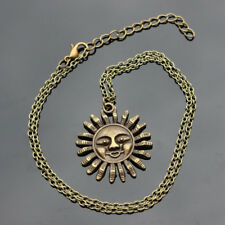 Bronze Smiling Pagan Sun Necklace Chain Pendant Alloy Boho 3 For 2 Mix & Match