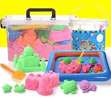 5 lbs Kinetic Magic Sand Kids Playground Deluxe Sand Alive Play Set 10 molds