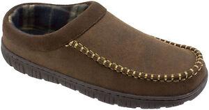 George  Men's Brown or Black Rugged Slip-on Clog Slippers Shoes