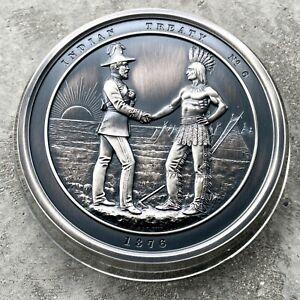 1867 - 2017 Indian Peace Canada Chief Commemorative Medal 10oz Silver .999 Fine