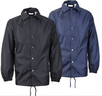 Men's Lightweight Water Resistant Button Up Windbreaker Coach Jacket