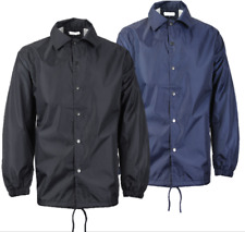 Men's Lightweight Water Resistant Button Up Windbreaker Coach Jacket