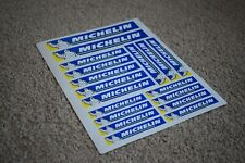 Michelin Tyres Classic Bike Motorbike Racing Car Decal Stickers Logo Blue Yellow