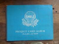 COMPLETE VINTAGE SHELL PROJECT CARD ALBUM- BUTTERFLIES & MOTHS  60 CARDS