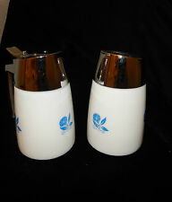 VTG.60's HENRY KECK STARLINE DRIPCUT SERVER SUGAR & CREAMER~BLUE MORNING GLORY
