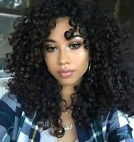 Fashion Black Synthetic Wig Long Curly Afro African American Wigs for Women