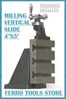 "Vertical Milling Slide 100 x 125 MM Fixed Base 4"" x 5"" Lathe Toolpost  Series"