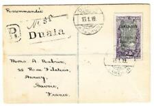 Cameroun French Occupation-Sc#145(single frank)-Duala 13/1/19-Registered