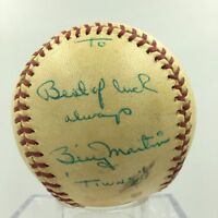 1961 Billy Martin Single Signed Baseball PSA DNA COA