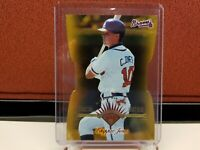 1997 Leaf Chipper Jones Fractal Matrix Gold Die Cut X-Axis Non Auto