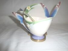 Franz Papillon Butterfly Cup, Saucer, Spoon And Brass Display Stand FZ00213