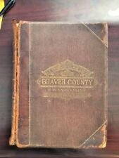 History Beaver County,  Illustrated 1888 ORIGINAL Leather Bound