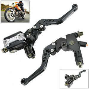 "2x 7/8"" Universal Motorbike Motorcycle Brake Clutch Master Cylinder Lever UK"