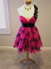 NWT JOVANI 15946 prom pageant occasion formal dress PINK black butterflies 12