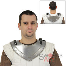 Handmade Knights Templar Gorget Plated Steel Neck & Throat Armor Medieval Collar