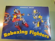 REMOTE CONTROLLED ROBOTS SHARPER IMAGE ROBOXING FIGHTERS PUNCHING BAG RARE