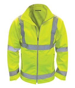 Hi Vis Hi Visibility Soft Shell Jacket - Hi Viz Yellow - HVSS2L