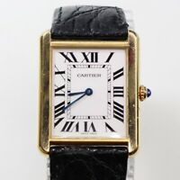Cartier Tank 18K Yellow Gold Quartz 31 mm Silver Watch W5200002