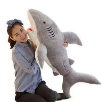 Ocean Animal Shark Plush Stuffed Doll Toy Pillow Bolsters Kid Birthday Gift 70CM