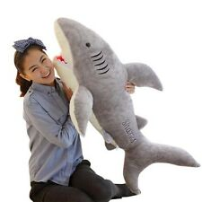 Lovely Shark Shaped Plush Toy Pillow Cushion Soft Doll Gift Animal Bolster B45 @