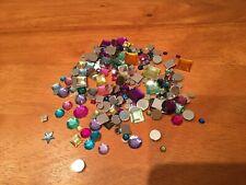 250 Strasssteine rund & eckig Schmuckstein Acryl Strass bunt verschiedene Größen