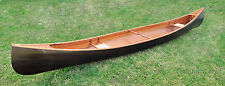 Cedar Strip Built Canoe 18' No Ribs Black Stained Finish Handmade Woodenboat USA