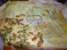 COLLECTOR : foulard Hermès intitulé Neige d'Antan jaune pâle, neuf