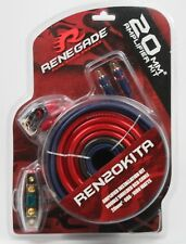 Renegade REN20KITA Amp Kit 4 Gauge 60A 1000W Amplifier Install Cable Wires