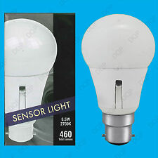 2x 6.5W LED GLS Dusk Till Dawn Sensor Security Night Light Bulb BC B22 90 - 265V