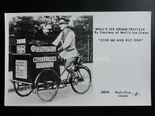 WALL'S ICE CREAM TRICYCLE Stop Me & Buy One - Pamlin Print RP Postcard M2216