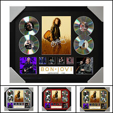 Bon Jovi 4CD Signed Framed Memorabilia Limited Ed. 2017 - Multiple Variations V1