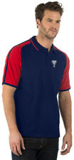 Embroidered Sporting Theme Image Navy/Red Contrast Sleeve Polo Shirt, Ideal Gift
