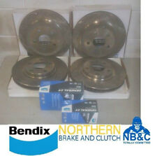 FRONT/REAR X-DRILLED ROTORS & BENDIX GCT PADS  HOLDEN COMMODORE  VE V6