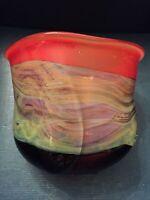 Robert Eickholt Art Glass Vase, Signed, Dated 2004 , Hand Blown, Beautiful