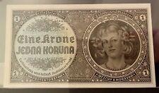 More details for bohemia and moravia 1 koruna specimen 1940 unc