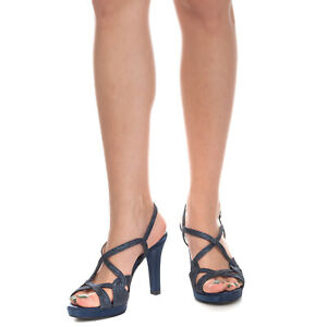 RRP €105 CHARME Leather Slingback Sandals EU 36 UK 3 US 6 Glitter Made in Italy