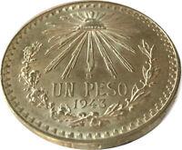 1943 Mexico Silver Cap & Rays Un Peso Uncirculated