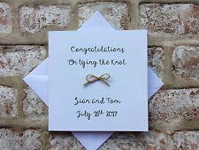 Personalised Wedding card - handmade wedding for wedding day marriage