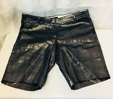 NWOT J Crew Metallic Foil Gray Shorts. Womens. Size 4. Linen.