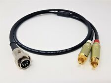 NAIM 5 Pin Din Twist Lock to RCA Phono Cable Stereo Silver Plated Pure OFC  1m