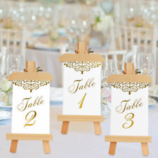 25PCS Wedding Table Numbers Double Sided Gold Foil Place Cards Wedding Reception