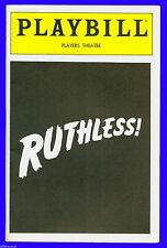 Playbill + Ruthless + Laura Bell Bundy , Joel Vig , Donna English , Denise Lor