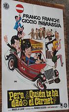 Used Cartel de Cine PERO ¿QUIEN TE HA DADO EL CARNET?  Vintage Movie Film Poster