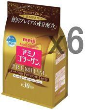 6 Gold Packs! Meiji PREMIUM Amino Collagen powder, 32days (214g) x 6 refills!
