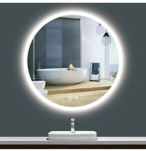 TokeShimi LED Round Mirror 36 Inch Bathroom Vanity Mirror Dimmable Wall