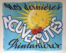 Affiche NOS DERNIERES NOUVEAUTES PRINTANIERES Soleil Printemps 1950