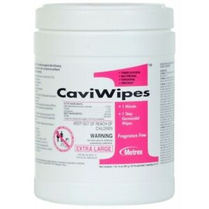 "Caviwipes Metrex 13-5100 CaviWipes1 Germicidal Hospital Wipes Large 6""x6.75"" 160"