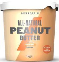 1kg MyProtein Erdnussbutter natural smooth fein Protein Eiweiß peanut butter