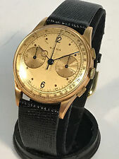 Sada Swiss Chronograph 18k Watch Big Face ca. 1940s - Nice