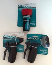 3PC LOT GILMOUR MEDIUM DUTY DURABLE METAL HOSE NOZZLES WATERING CLEANING FIREMAN